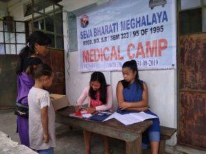 Free Health camps Seva Bharati Meghalaya